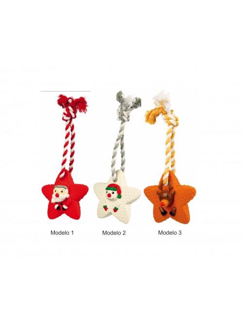 Estrelas de Natal em látex e corda