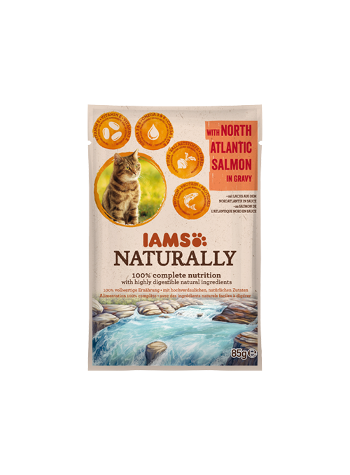 IAMS Naturally Adult Cat Salmon-I1450257