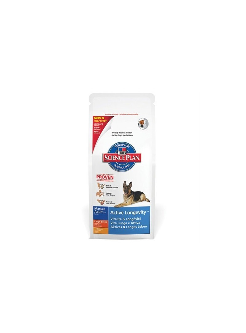 Hill's Science Plan Active Longevity Mature 5+ Large Chicken-HIMALC12