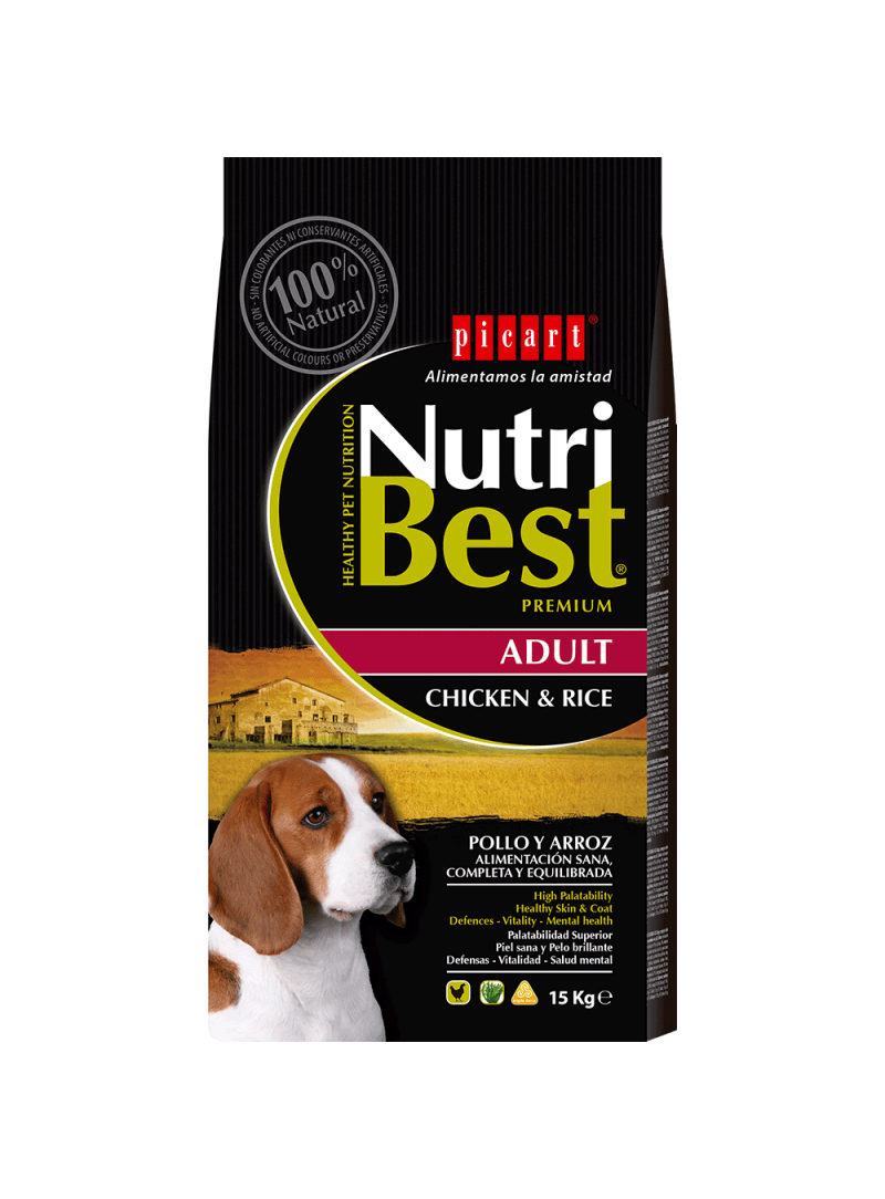 Picart Nutribest Adult Chicken & Rice Canine-NUTBADC3