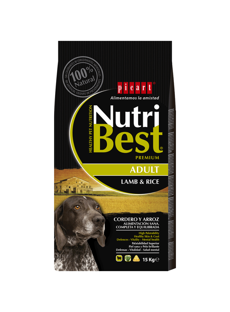 Picart Nutribest Lamb & Rice Canine-NUTBADLR3