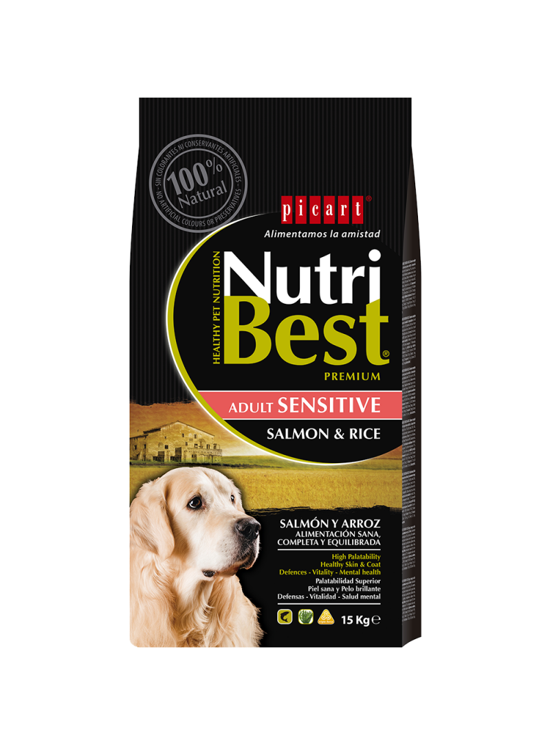 Picart Nutribest Sensitive Salmon e Rice Canine-NUTBSENT3