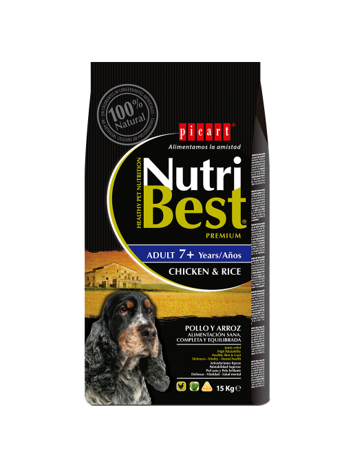 Picart Nutribest Adult 7+ Chicken & Rice Canine-NUTBSEN15