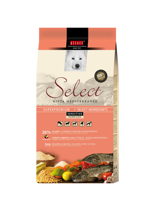 Picart Select Sensitive Salmon & Rice Canine-SELMSSRC3
