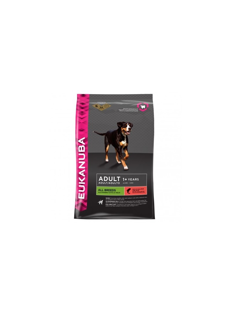 Eukanuba Adult All Breeds salmão e arroz-EUKALL25