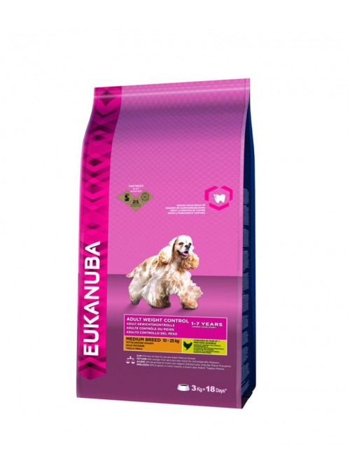 Eukanuba Adult Weight Control Medium Breed-EUKWE30