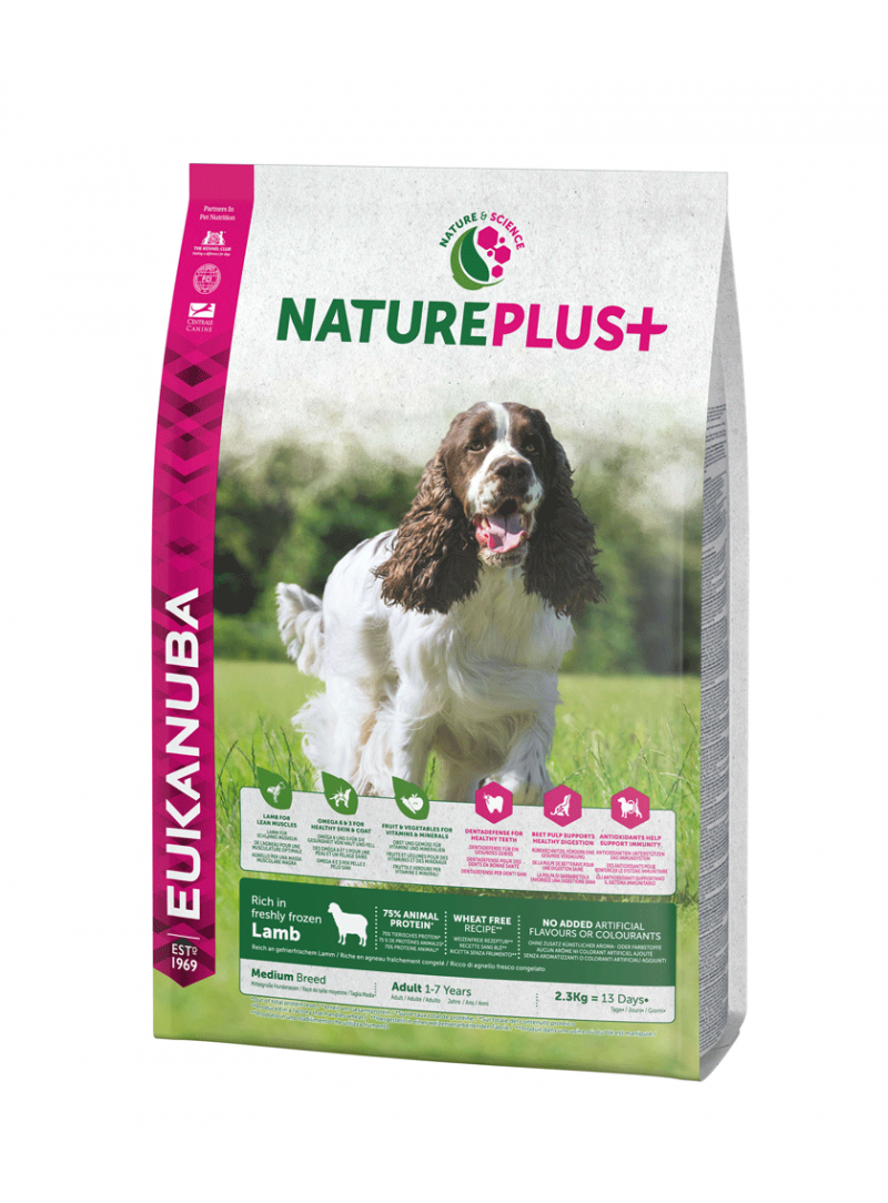 Eukanuba Nature Plus + Dog Adult Medium Breed Lamb-REUK1450508