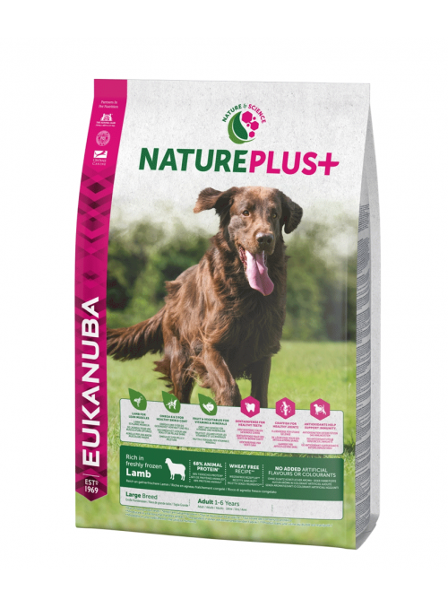 Eukanuba Nature Plus + Dog Adult Large Breed Lamb-REUK1450510