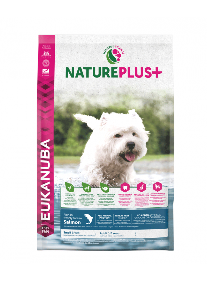 Eukanuba Nature Plus + Dog Adult Small Breed Salmon-REUK1450512