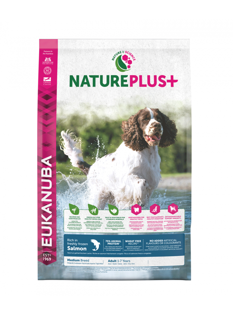 Eukanuba Nature Plus + Dog Adult Medium Breed Salmon-REUK1450514