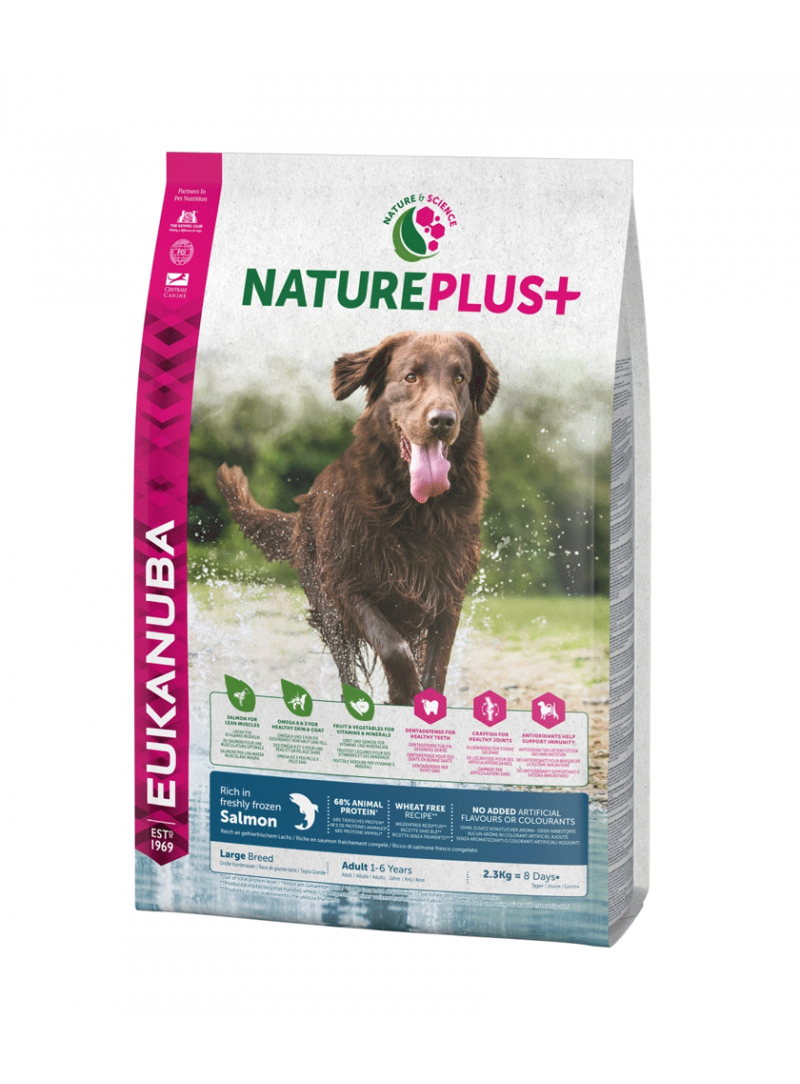 Eukanuba Nature Plus + Dog Adult Large Breed Salmon-REUK1450516