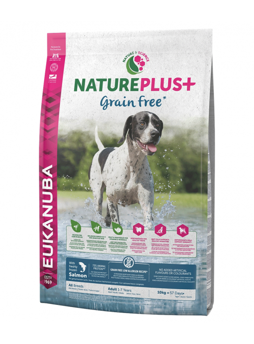 Eukanuba Nature Plus + Dog Adult Salmon  |  Grain Free-REUK1450522