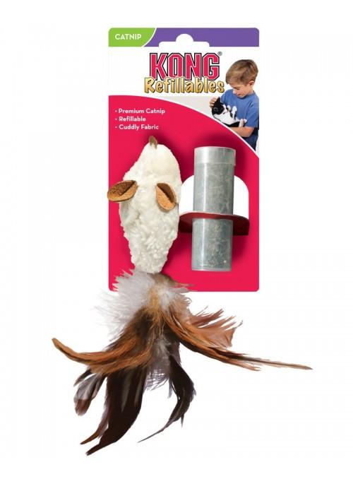 Kong Refillable Catnip Feather Rato-NM42E (2)