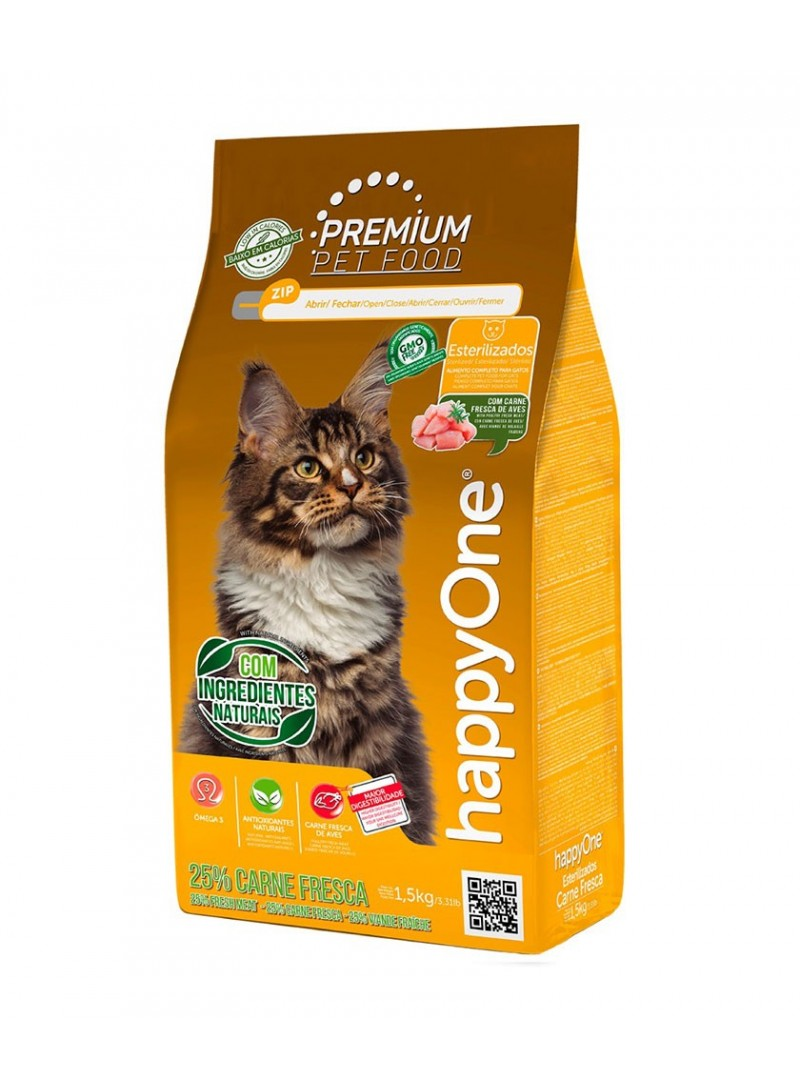 HappyOne Premium Cat Sterilised Carne Fresca-HOP004-01