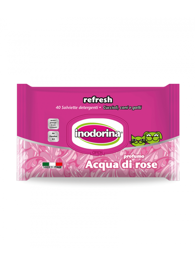 Inodorina Toalhetes Água de Rosas-PET100104