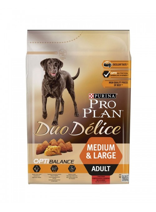 Pro Plan Duo Delice Dog Medium & Large Vaca-P12338883