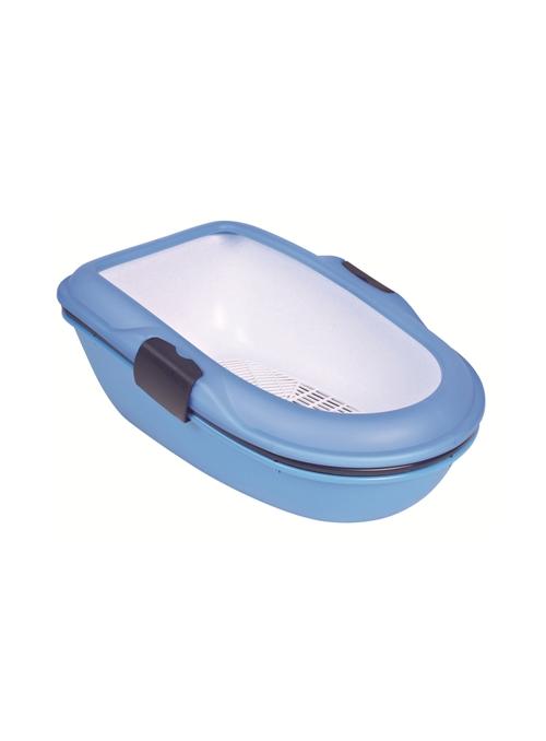 """TRIXIE WC """"BERTO"""" P/ GATO - Azul/Granito - TX40152"""