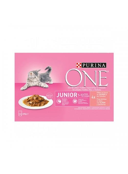 PURINA ONE CAT JUNIOR - HÚMIDO - 4 x 85gr - P12364499