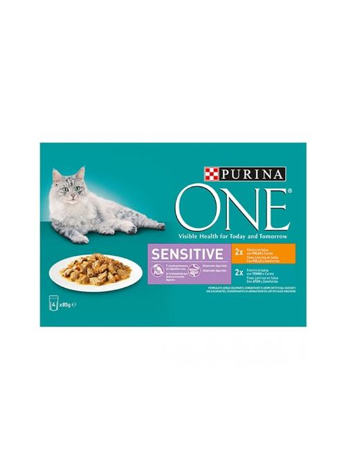 PURINA ONE CAT SENSITIVE - HÚMIDO - 4 x 85gr - P12365614