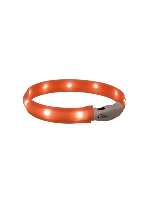 TRIXIE FLASHER - LIGHT BAND USB - Laranja - L-XL - TX12652