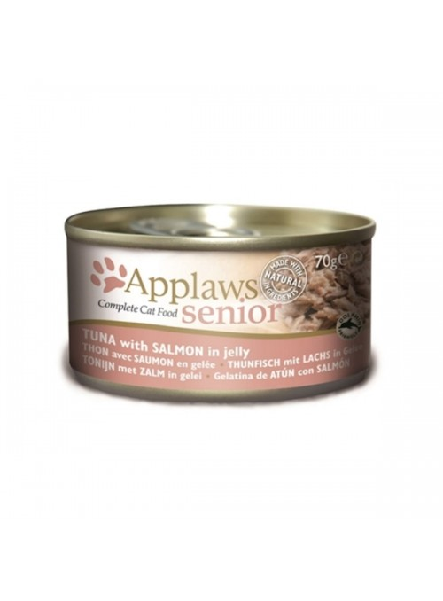 APPLAWS CAT SENIOR - LATA - Salmão - 70gr - A1030