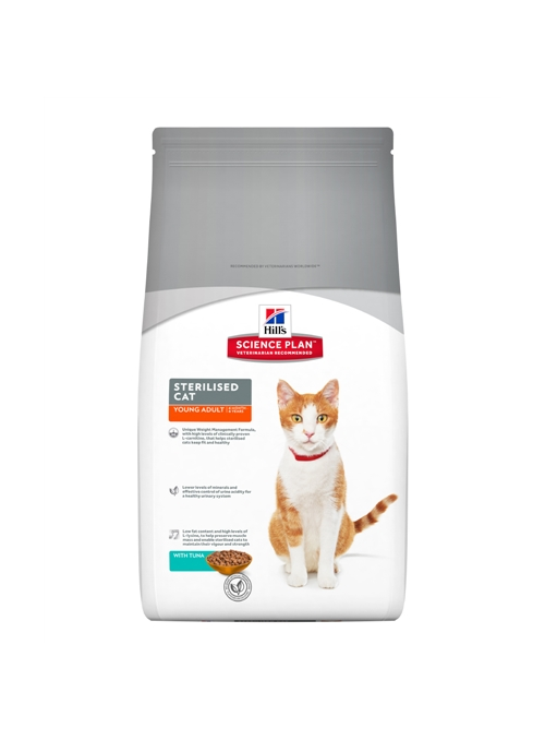 HILLS SCIENCE PLAN CAT YOUNG ADULT STERILISED TUNA - 3,5kg - H6940
