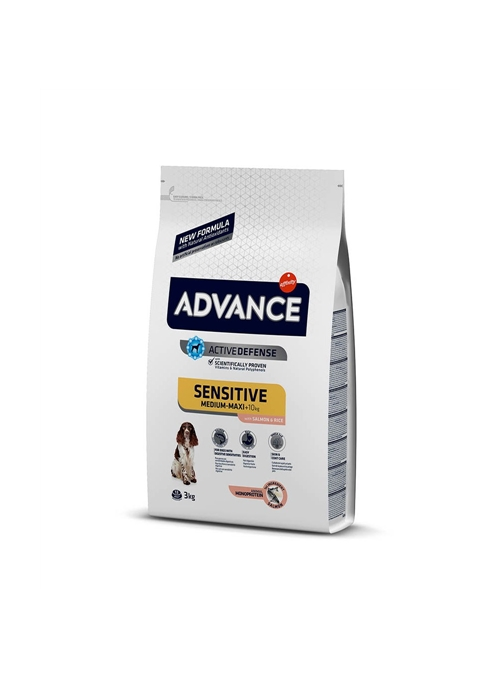 ADVANCE SENSITIVE SALMÃO & ARROZ - 3kg - AD524319
