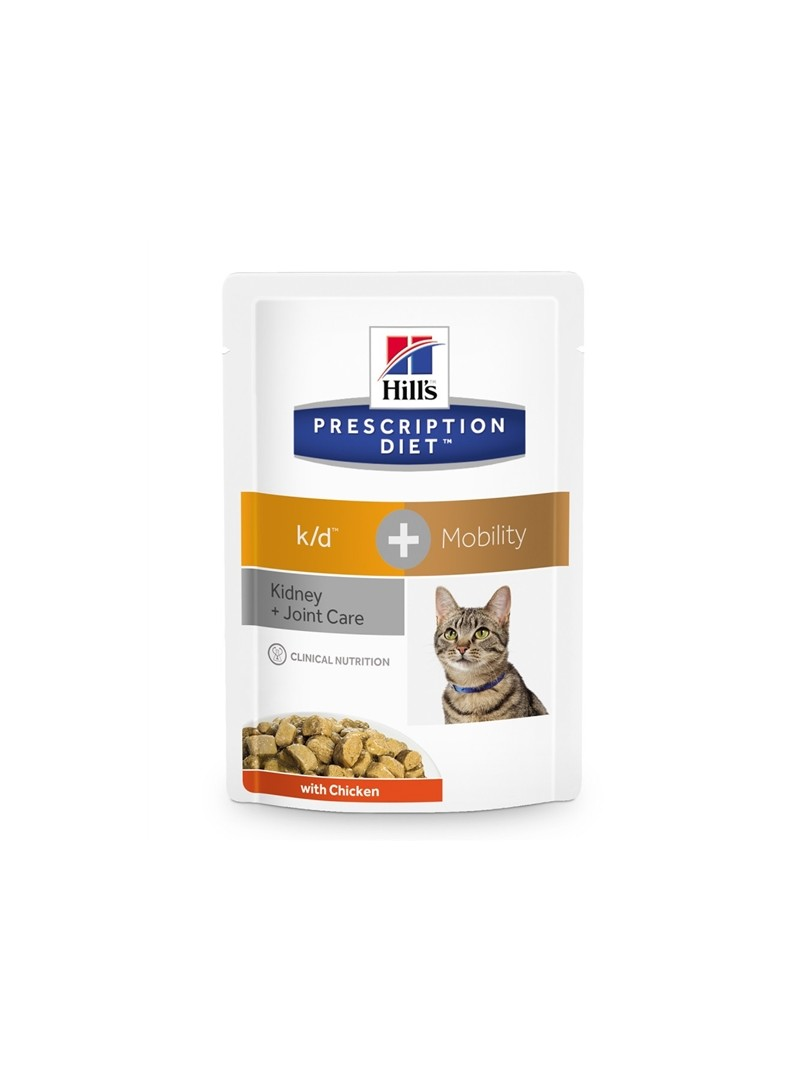 HILLS CAT  K/D + MOBILITY CHICKEN  |  SAQUETA - 85gr - FKDMP