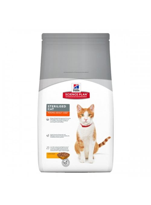 HILLS SCIENCE PLAN CAT YOUNG ADULT STERILISED CHICKEN - 8kg - H6850