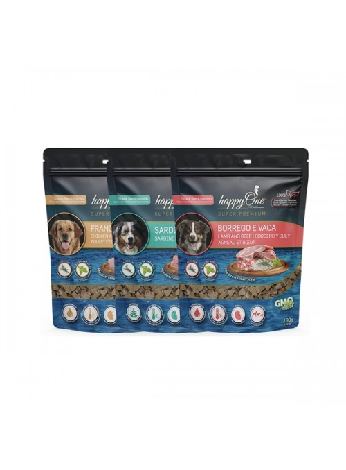 HAPPY ONE MEDITERRANEUM DOG SNACK - Sardinha - 190gr - MEDIT103