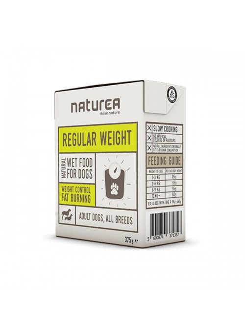 NATUREA DOG REGULAR WEIGHT - HÚMIDO - 375gr - NR088