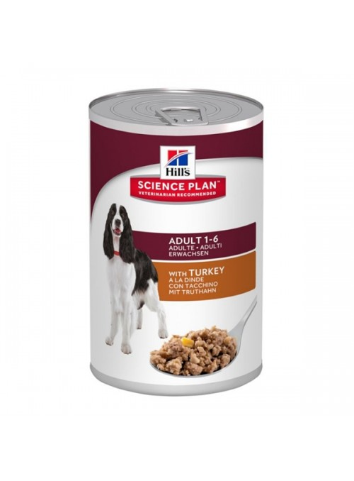HILLS SCIENCE PLAN DOG ADULT TURKEY - LATA - 370gr - HI2380