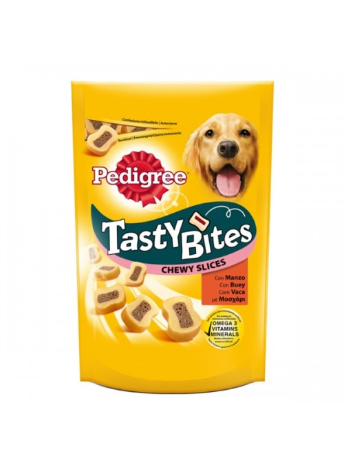 PEDIGREE TASTY BITES CHEWY SLICES - Vaca - 155gr - PE394162