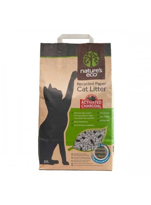 NATURES ECO CAT LITTER - PAPEL RECICLADO - 10 litros - NE71610