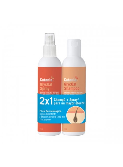 VETNOVA CUTANIA GLYCOAT PACK CHAMPÔ + SPRAY - 236 ml - CUTGLP236