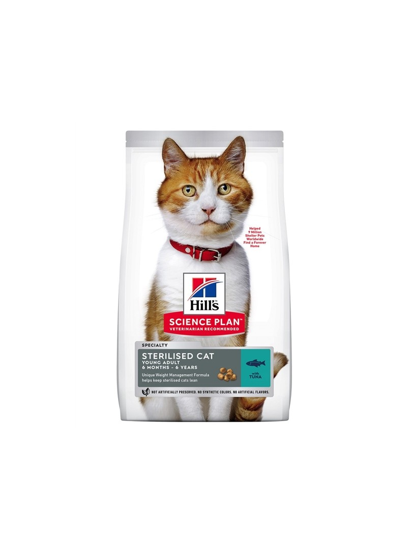 HILLS SCIENCE PLAN CAT YOUNG ADULT STERILISED TUNA - 1,5kg - H6930