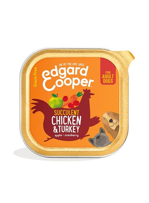 EDGARD & COOPER DOG GRAIN FREE - TERRINA - Frango e Perú - 150gr - EC85379