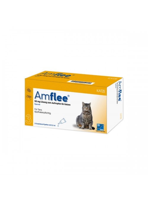 AMFLEE SPOT ON GATO - 3 pipetas - AMFLEEG50