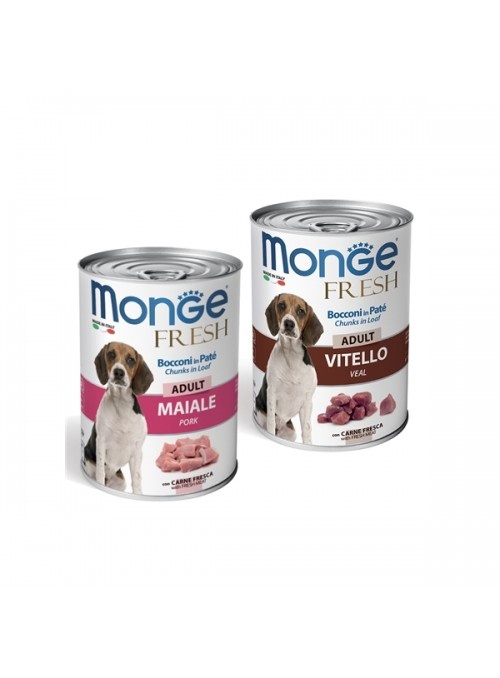 MONGE DOG FRESH - LATA - Porco - 400gr - MO14465
