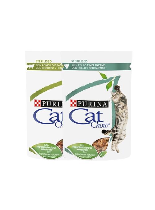 CAT CHOW ADULT STERILIZED - SAQUETA - Frango - 85gr - P12404045