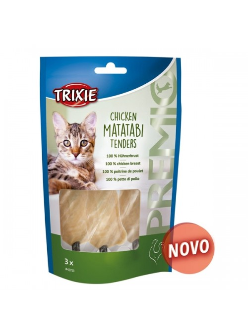 TRIXIE CAT SNACK PREMIO CHICKEN MATATABI TENDERS - 55gr - TX42753