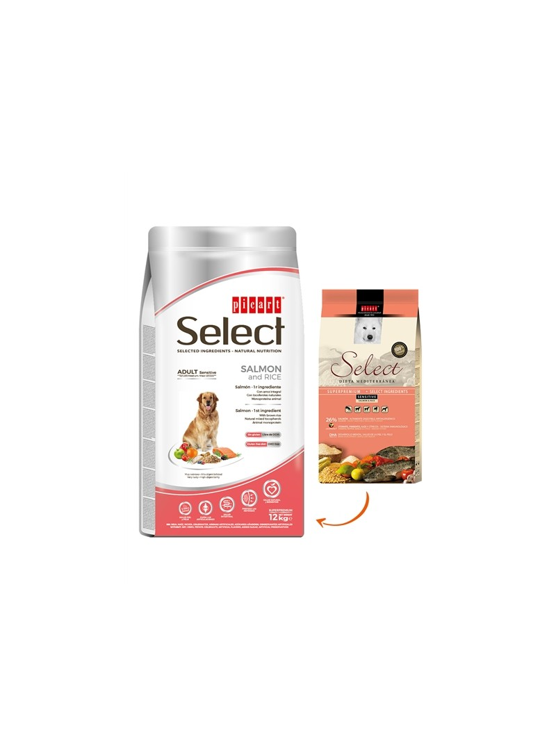 PICART SELECT SENSITIVE SALMON & RICE CANINE - 3kg - SELMSSRC3