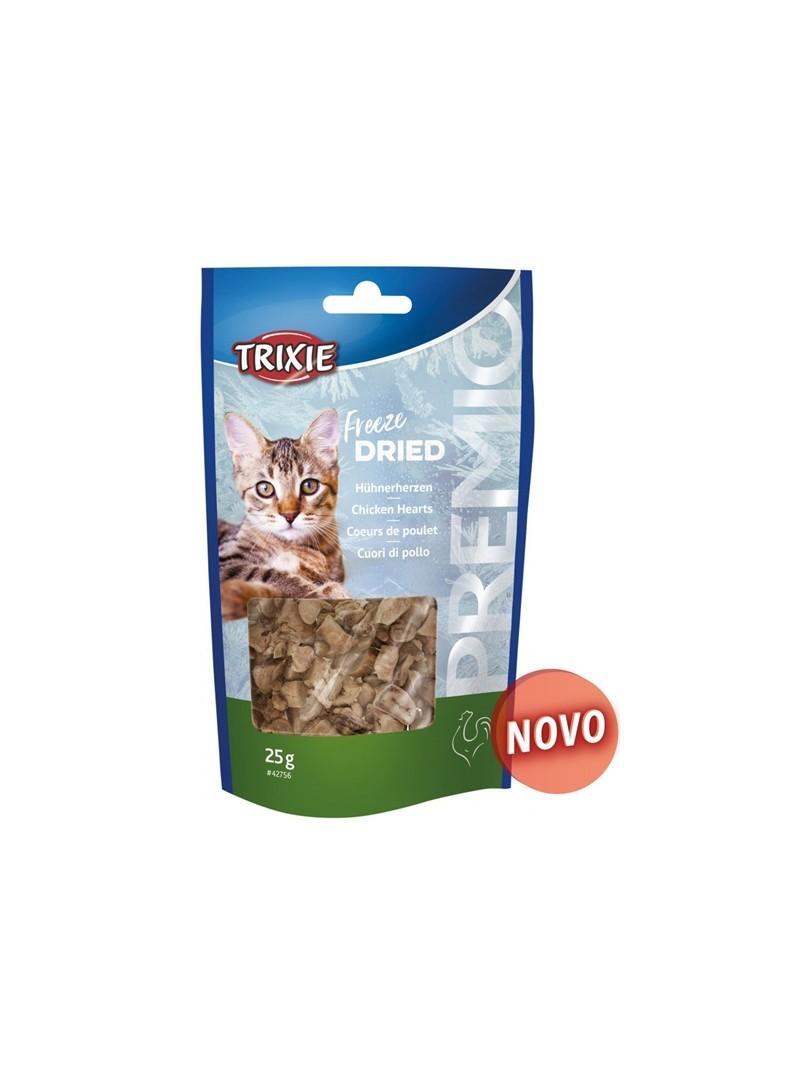TRIXIE CAT SNACK PREMIO CORAÇÕES DE FRANGO LIOFILIZADOS - 25gr - TX42756
