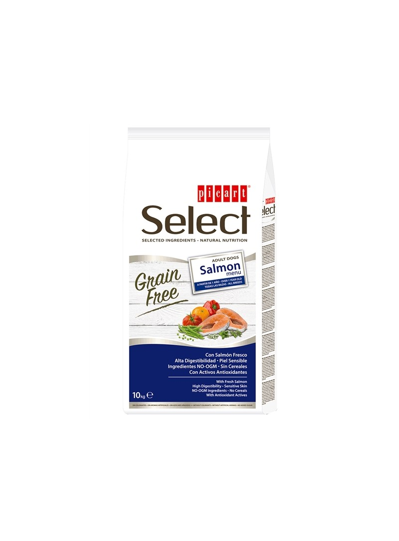 PICART SELECT GRAIN FREE DOG ADULT SALMON MENU - 2kg - P52070