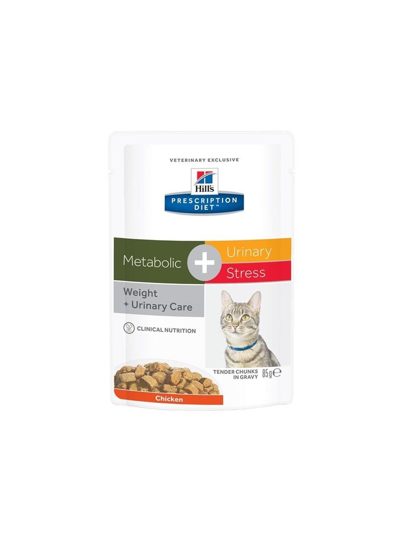 HILLS CAT METABOLIC + URINARY STRESS - SAQUETA - 85gr - FMETAPUSTP