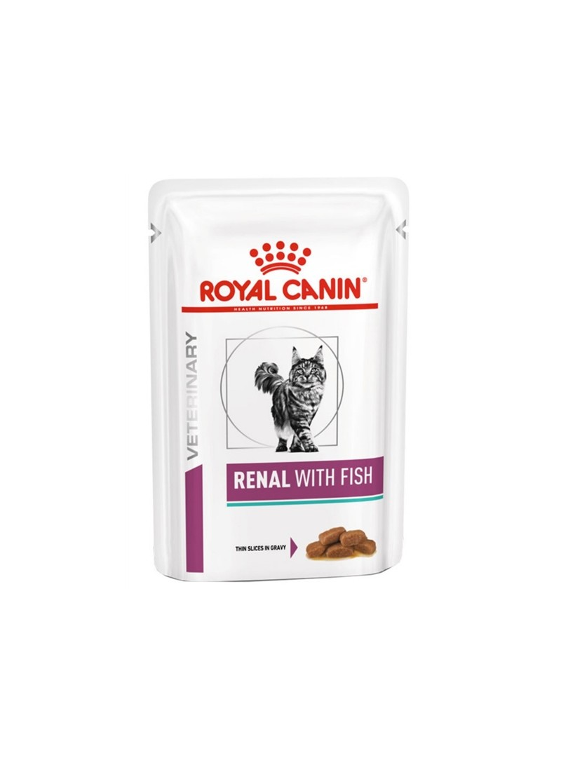 ROYAL CANIN CAT RENAL WITH FISH - GRAVY - 85gr - RC4067001