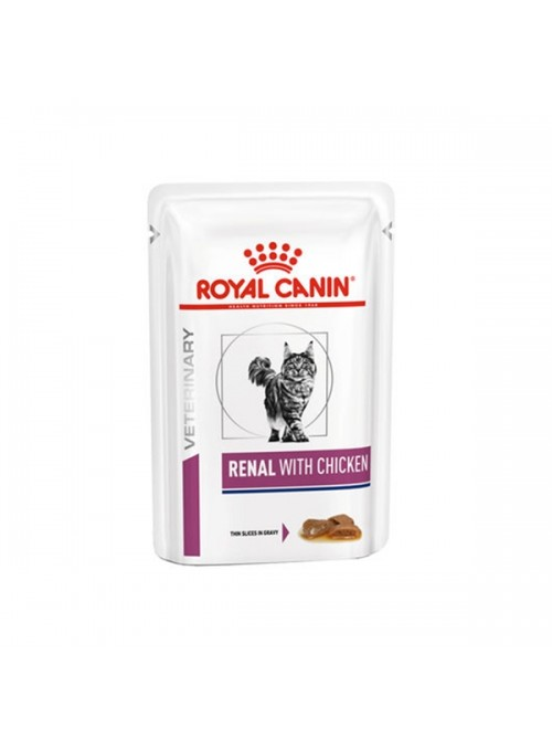 ROYAL CANIN CAT RENAL WITH CHICKEN - GRAVY - 85gr - RC4030001