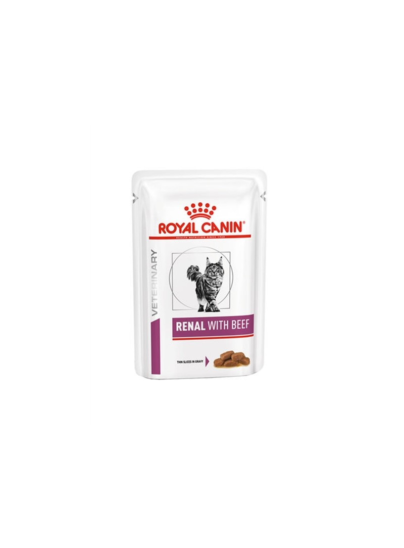 ROYAL CANIN CAT RENAL WITH BEEF - GRAVY - 85gr - RC4031001