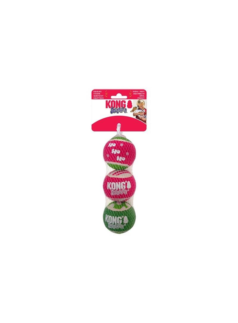 KONG HOLIDAY SQUEAKAIR BALL DOG - Especial Natal - H20D148